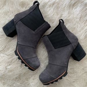 Sorel  Addington Grey & Black Chelsea Boots 6.5